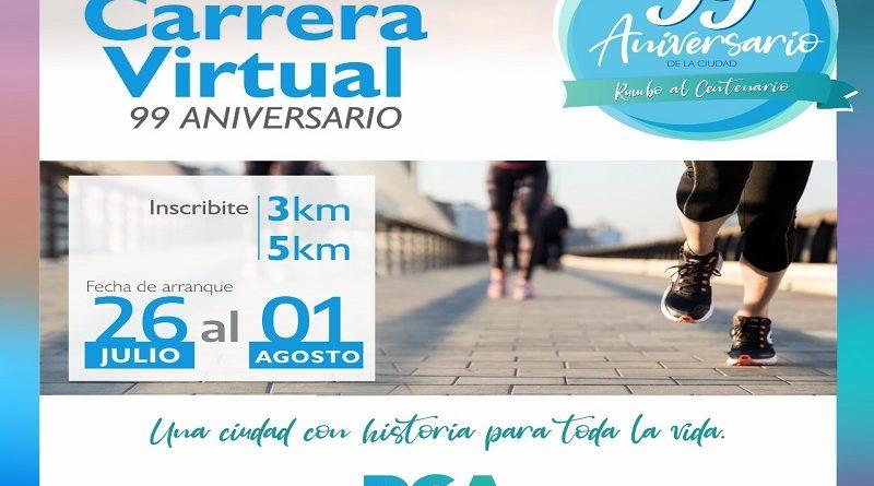 El Municipio de Río Grande invita a participar de la Carrera Virtual 99° aniversario